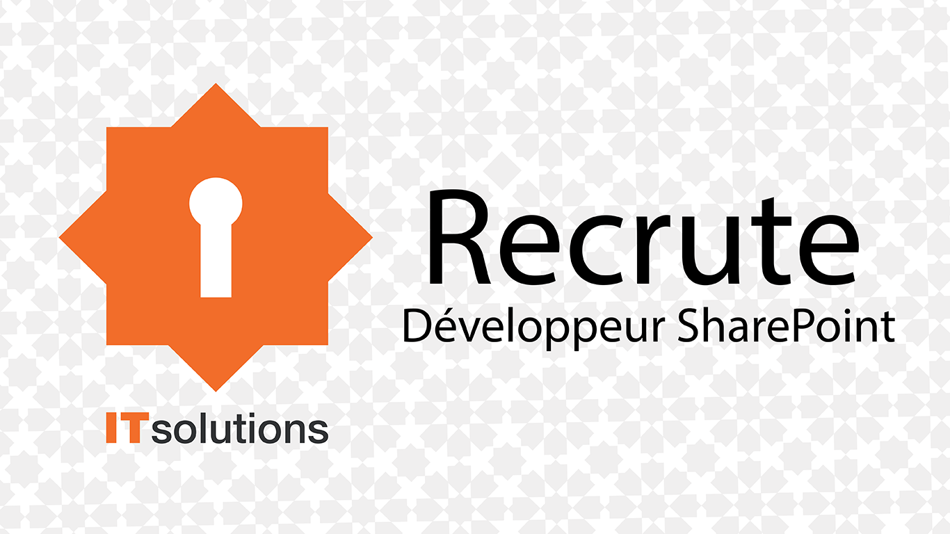 IT Solutions recrute Développeur Sharepoint